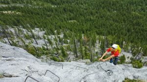 Climb the Mt. Stelfox Via Ferrata with Paddy