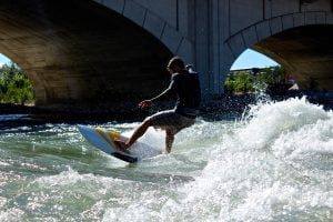 River Surfing the Bow River with Luke