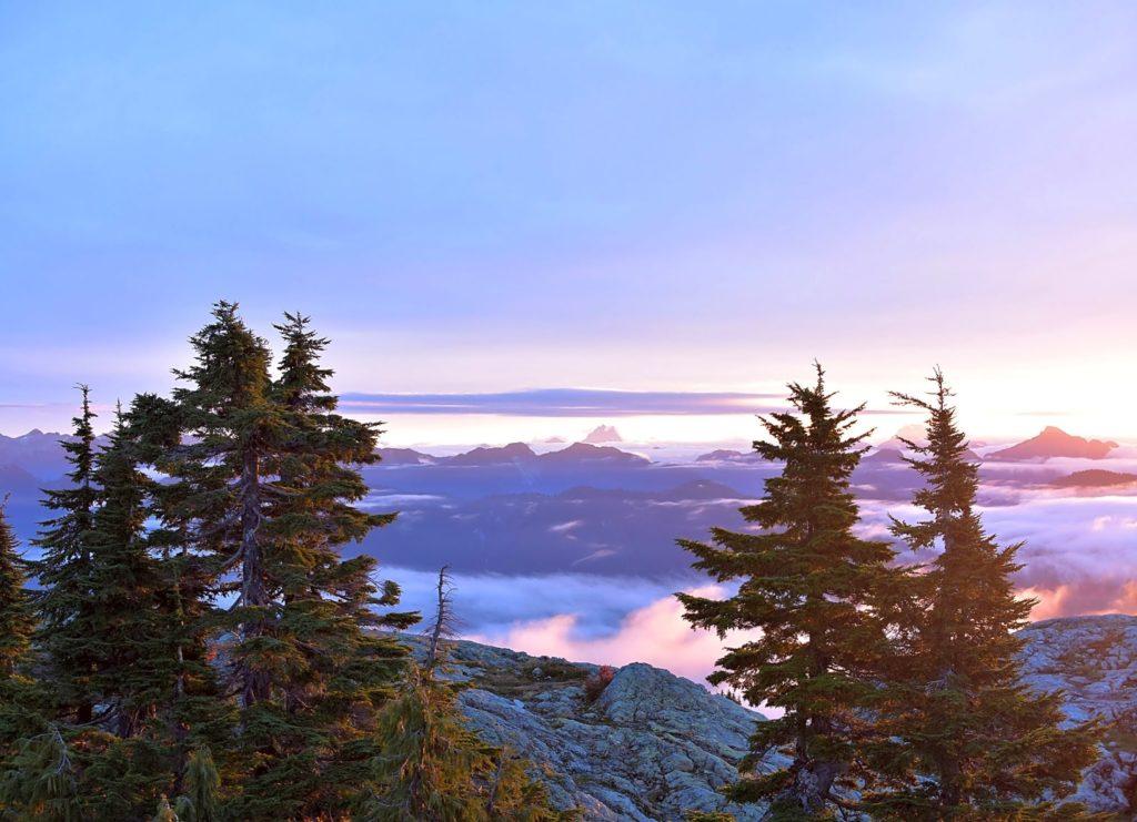North Shore mountain sunrise