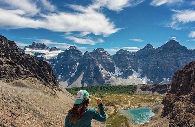 Woman Overlooking Sentinel Pass. 5 Best Hikes: Banff, Alberta