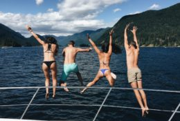 Jumping Into The Sea On A Yervana Summer Adventure