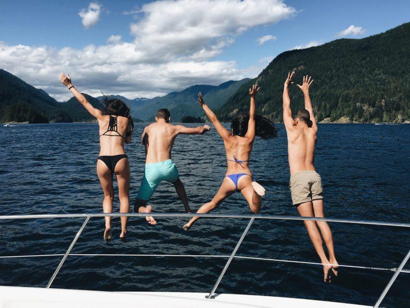 Jumping Into The Sea On A Yervana Summer Adventure