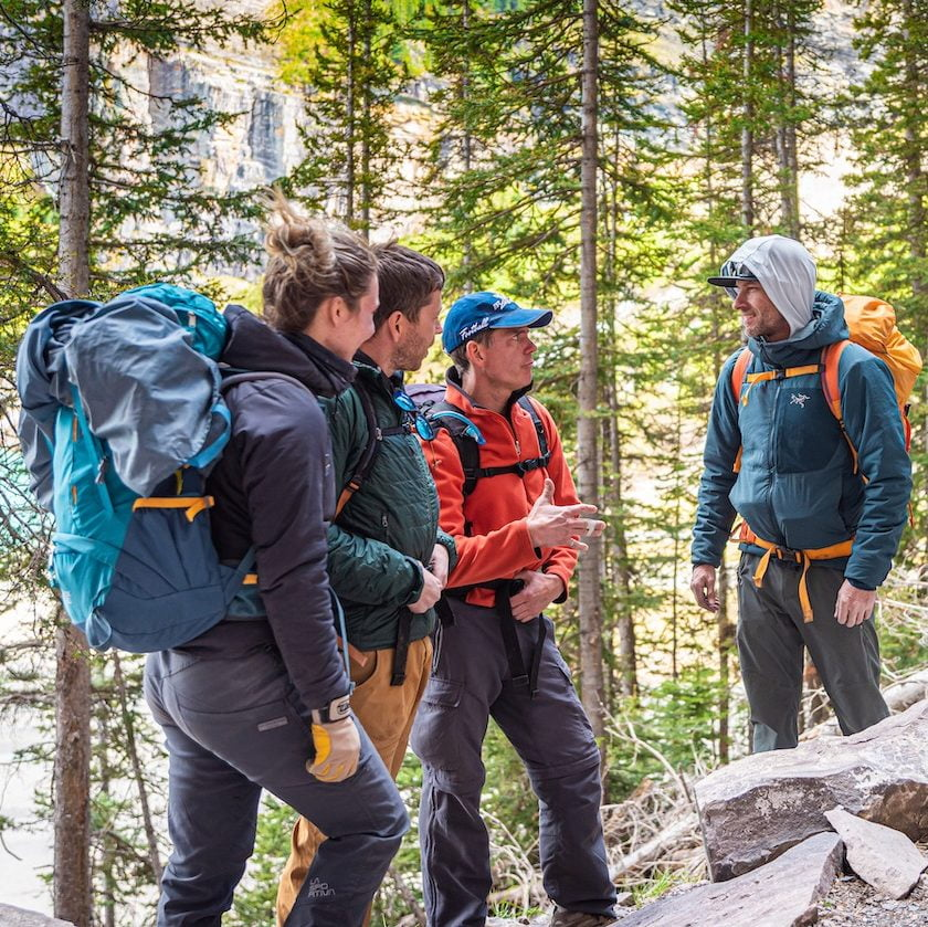ACMG Guide Detailing Hike To Group Of People