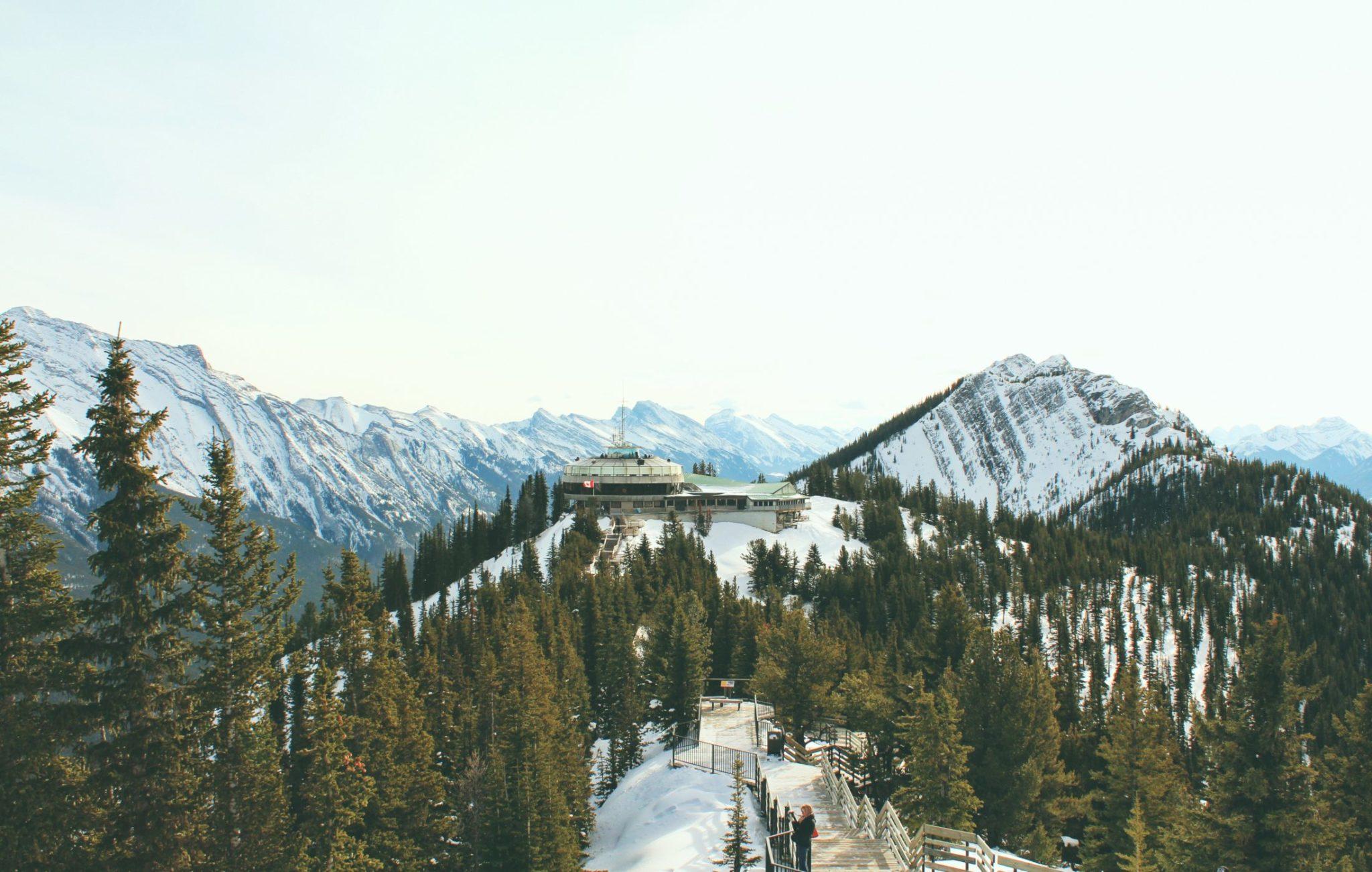 A mountain landscape in Banff, Canada