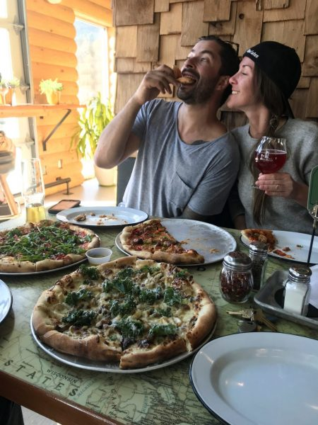 Two People Eating Pizza Posthike