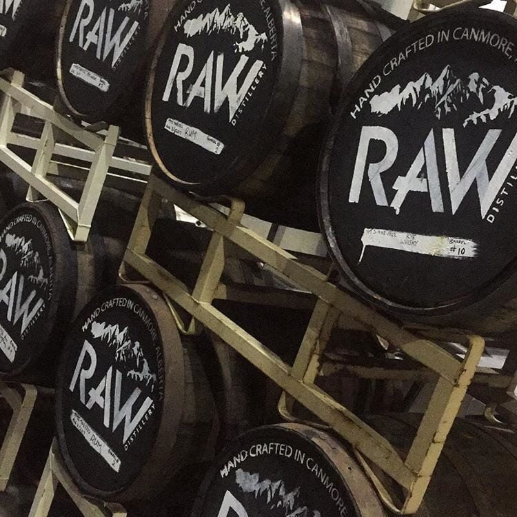 Raw Distillery In Canmore: Winter
