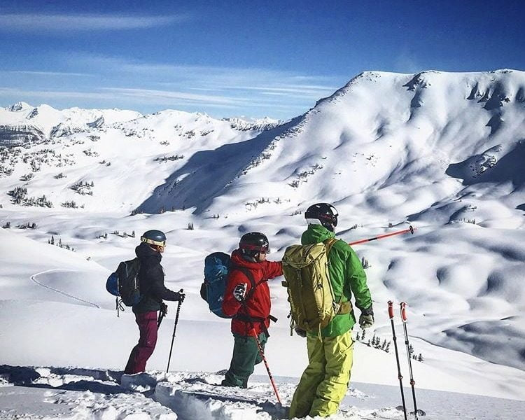 Guide In The Backcountry Showing Snow Safety