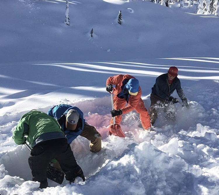 Avalanche Safety Training: Shoveling