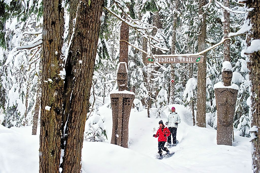 BC Holiday Gift Guide Snowshoe in Whistler